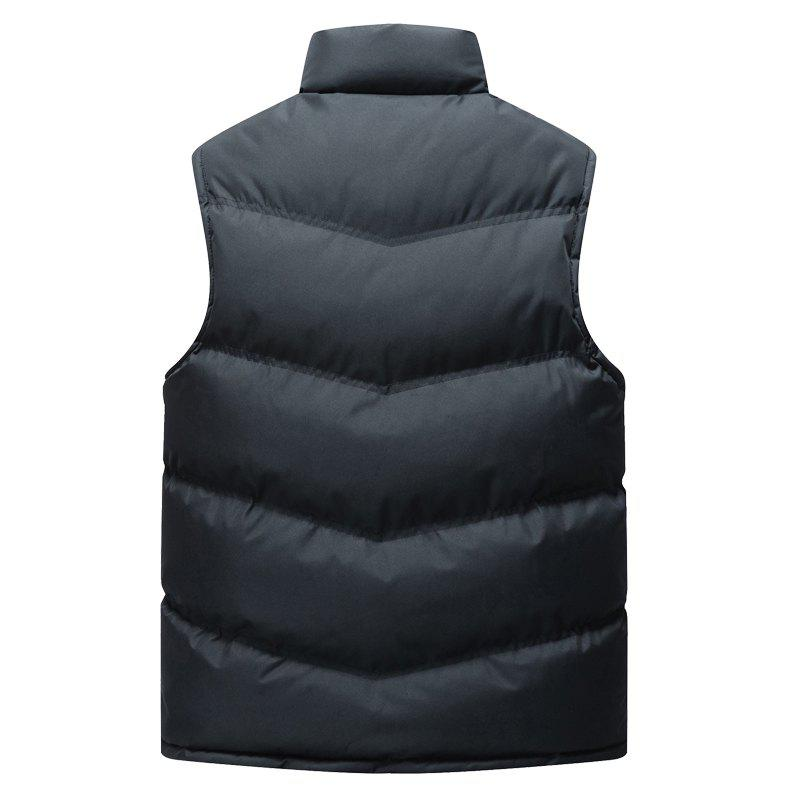 Autumn and Winter Men'S Casual Jacket Collar Vest - BLUE 2XL