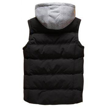 Men Autumn and Winter Vest - BLACK XL