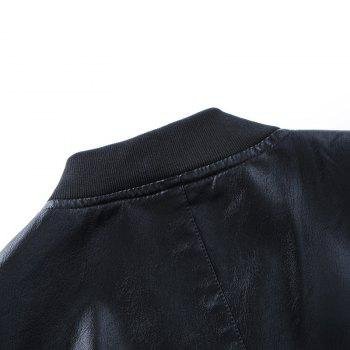 Autumn and Winter Men'S Leather Casual Coats - BLACK XL