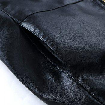 Autumn and Winter Men'S Leather Casual Coats - BLACK 2XL