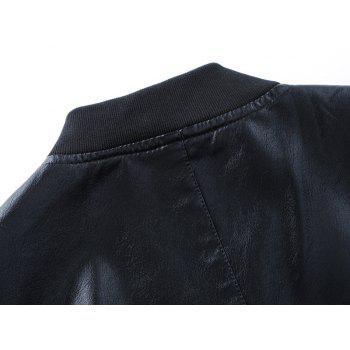 Autumn and Winter Men'S Leather Casual Coats - BLACK BLACK