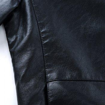 Autumn and Winter Men'S Leather Casual Coats - BLACK M
