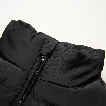 Men'S Winter Coat Collar Fashion Color Vest - BLACK 5XL
