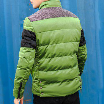 Men'S Winter Coat Collar Thickening Casual Jacket - ARMYGREEN L