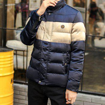 Men'S Winter Coat Collar Thickening Casual Jacket - BLUE XL