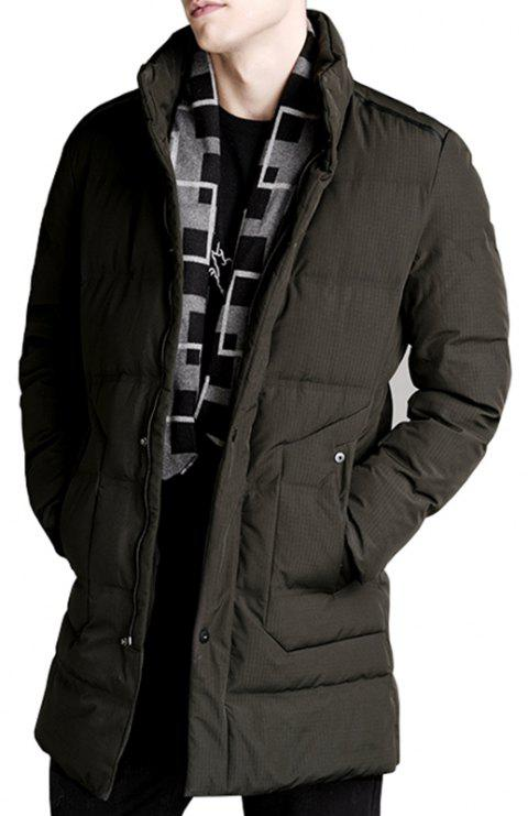 Autumn and Winter Men'S Down Jacket Casual Fashion Warm Coat - GREEN 3XL