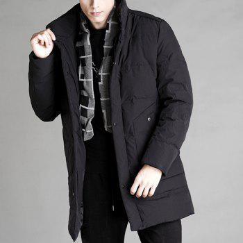 Autumn and Winter Men'S Down Jacket Casual Fashion Warm Coat - BLACK 3XL