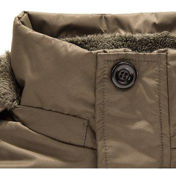 Men'S Casual Cotton Padded Jacket - ARMY GREEN 5XL