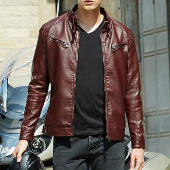 Winter Fashion Suit for Men - WINE RED 2XL