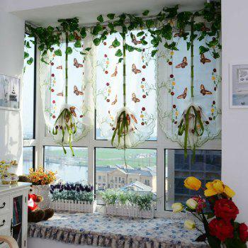 Water soluble embroidery little butterfly living room curtains - YELLOW YELLOW
