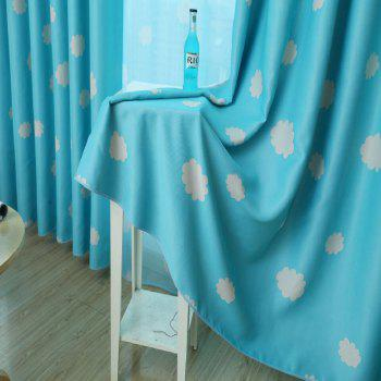 Cloud Cover Bedroom Dreamy Curtains - BLUE BLUE