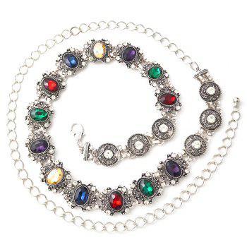 Vintage crystal waist chain - COLORFUL COLORFUL