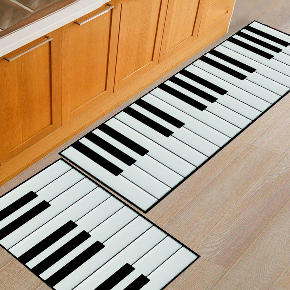 2018 Kitchen Floor Mat Super Soft Piano Keys Pattern