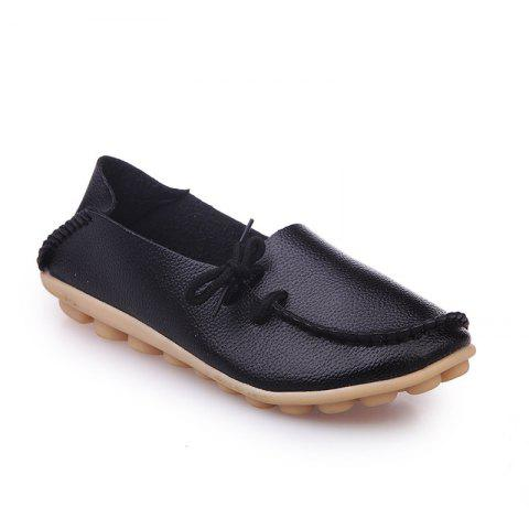 Large Size Loose Flat Shoes - BLACK 42