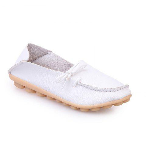 Large Size Loose Flat Shoes - WHITE 38