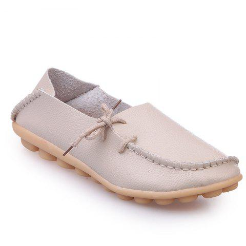 Large Size Loose Flat Shoes - BEIGE 36
