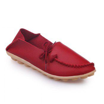 Large Size Loose Flat Shoes - RED RED