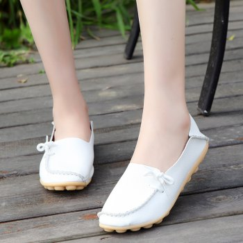 Large Size Loose Flat Shoes - WHITE 42