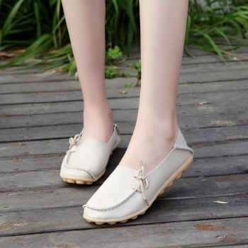Large Size Loose Flat Shoes - BEIGE BEIGE