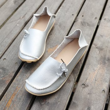 Large Size Loose Flat Shoes - SILVER 44