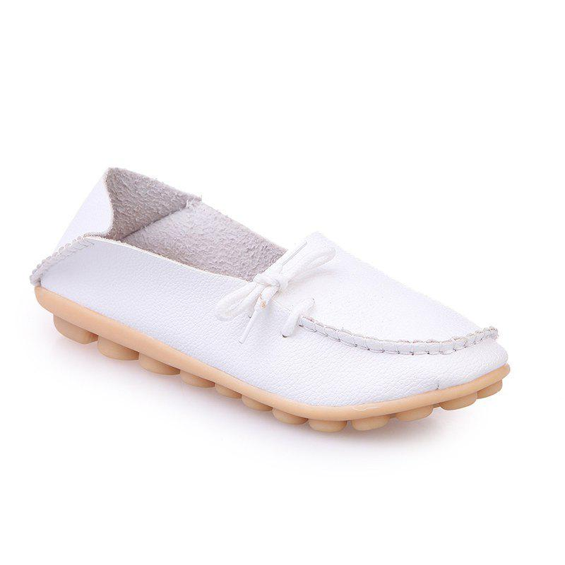 Large Size Loose Flat Shoes - WHITE 39