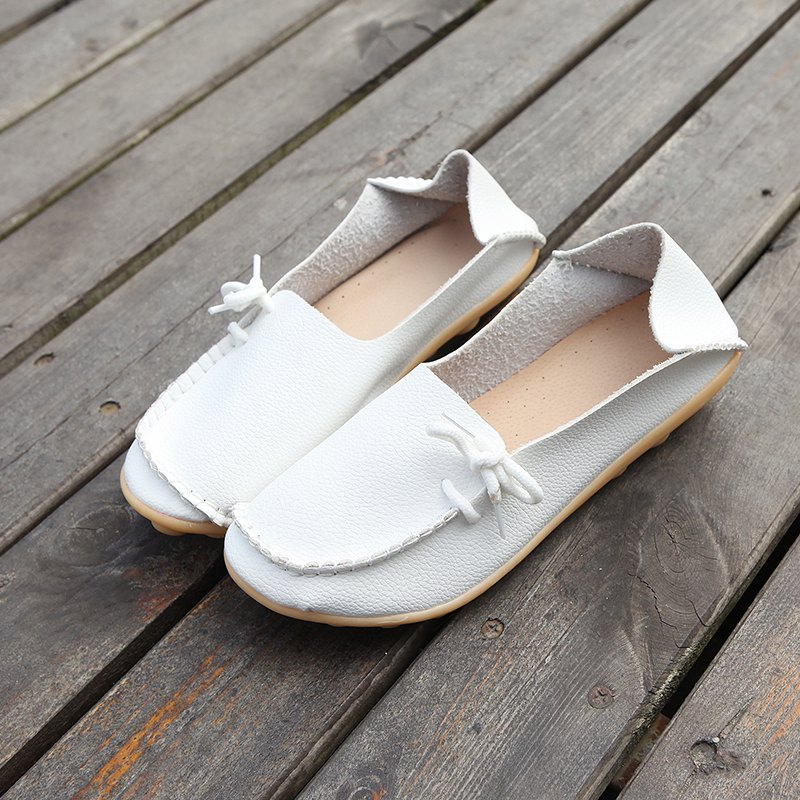 Large Size Loose Flat Shoes - WHITE 44