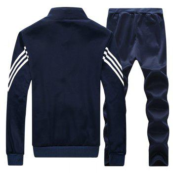 Male Youth Fashion Sportswear Men'S Casual Suit - BLUE 3XL