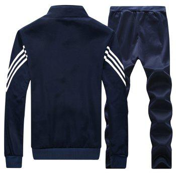 Male Youth Fashion Sportswear Men'S Casual Suit - BLUE M