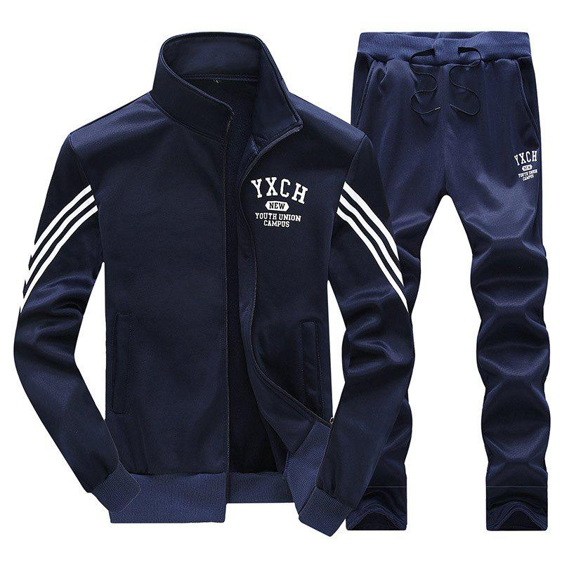 Male Youth Fashion Sportswear Men'S Casual Suit - BLUE XL