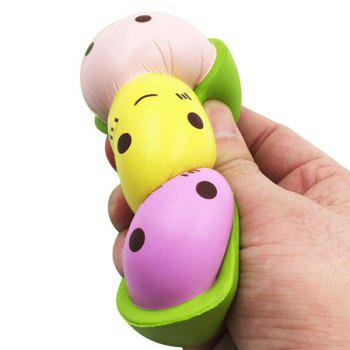 Cute Mini Face Pea Squishy Bean Soft Slow Rising Pendant Phone Strap Stretchy Squeeze Cream Scented Cake Kid Toy Gift - COLORFUL