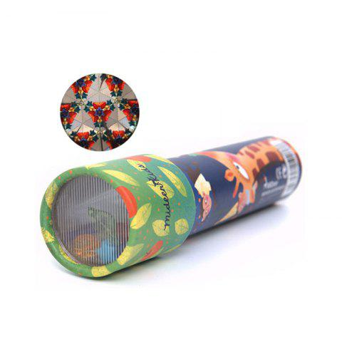 Imaginative Cartoon Animals 3D Kaleidoscope Paper Card Colorful World Interactive Toys Kids Gifts - COLORMIX