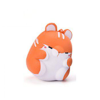 Cute Kawaii Soft Squishy Squishi Colorful Simulation Hamster Toy Slow Rising for Relieves Stress Anxiety Home Decoration - ORANGE