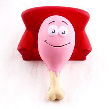 15CM Chicken Leg Smile Face Phone Accessories Squishy Stress Stretch Scented Squeeze Soft Slow Rising Kid Toy - PINK PINK