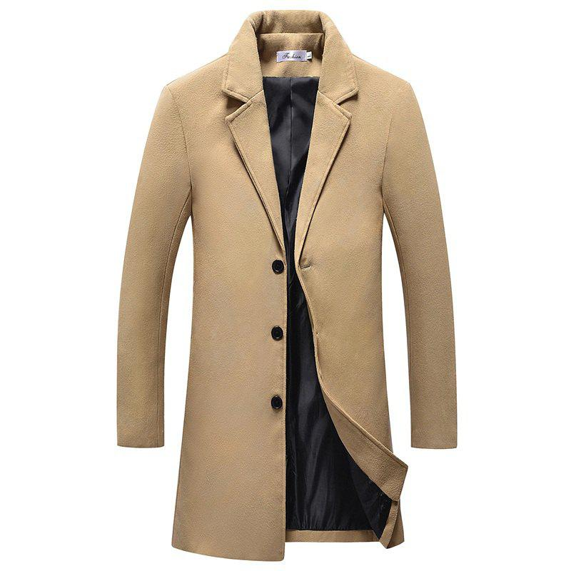 The New Winter Single Breasted Long Slim Men Thin Coat D167 2017 new single original single winter women in the long feather sues big hair collar winter value slim thickening m510a