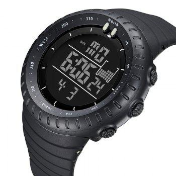 Hot Digital Watches Men Sports 50M Waterproof Quartz Large Dial Military Luminous Wristwatches Male Clock Relogio Mascul - BLACK