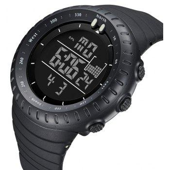BIDEN 1113 Men Sports 50M Waterproof Quartz Large Dial Military Luminous Wristwatches - BLACK