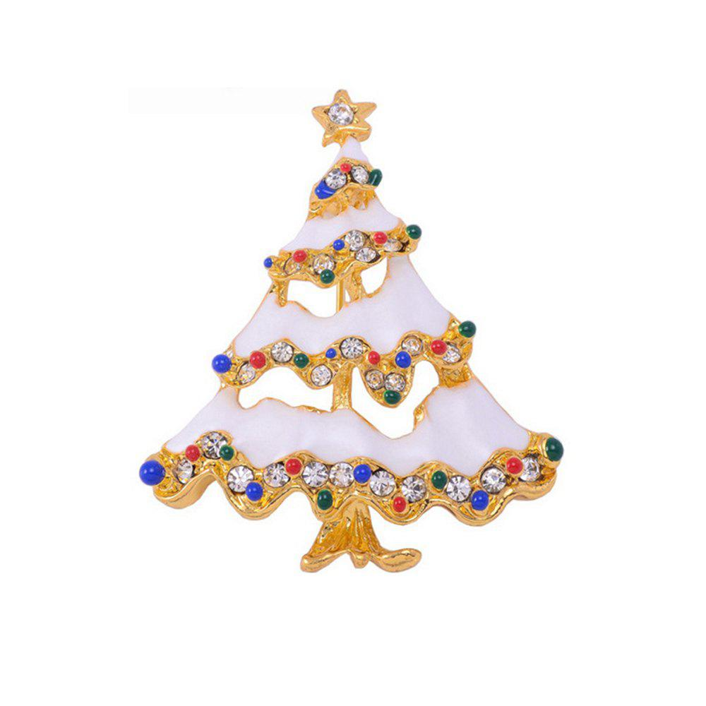 Christmas Brooch Christmas Tree Brooches Charm Rhinestone Brooch Pin for Women Cheap-Christmas-Ornament Christmas Gift - COLORFUL