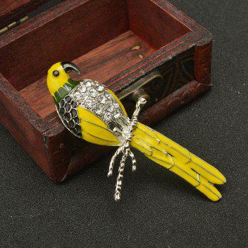 Cute Enamel Colorful Parrot Brooches for Women Fashion Rinestone Design Animal Brooch Pin - DAISY