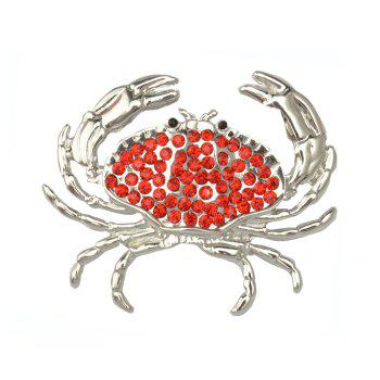 Arrival Animal Brooch Pin Silver-color Sweater Collar Clip Bijouterie Enamel Lifelike Crabs Brooches For Women Shirt - RED RED