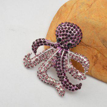 Vintage Antique Rinestone Alloy Brooches Women Kids Clothes Decoration Fish - PURPLE