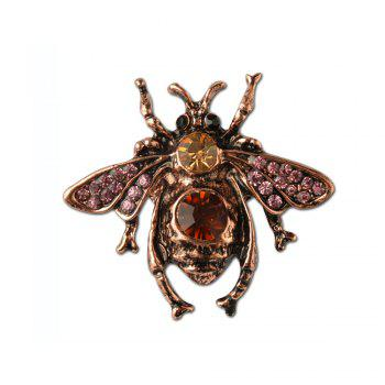 Vintga Cute Animal Bee Brooch For Women In Europe And America High-grade brooch - BRONZED BRONZED