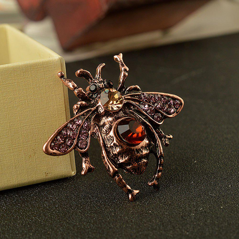 Vintga Cute Animal Bee Brooch For Women In Europe And America High-grade brooch - BRONZED