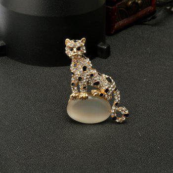 Opal Leopard Brooches for Man - GOLDEN