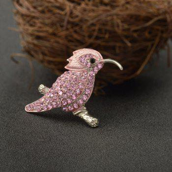 High Quality Jewelry Animal Brooch Cute Hummingbird Brooches for Fashion Lady - PINK