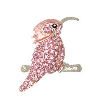High Quality Jewelry Animal Brooch Cute Hummingbird Brooches for Fashion Lady - PINK PINK