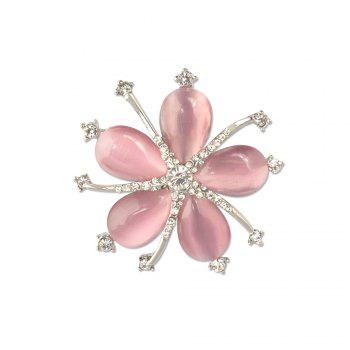 Fashion Style Crystal Opal Diamante Starfish Party Brooch for Woman - PINK PINK