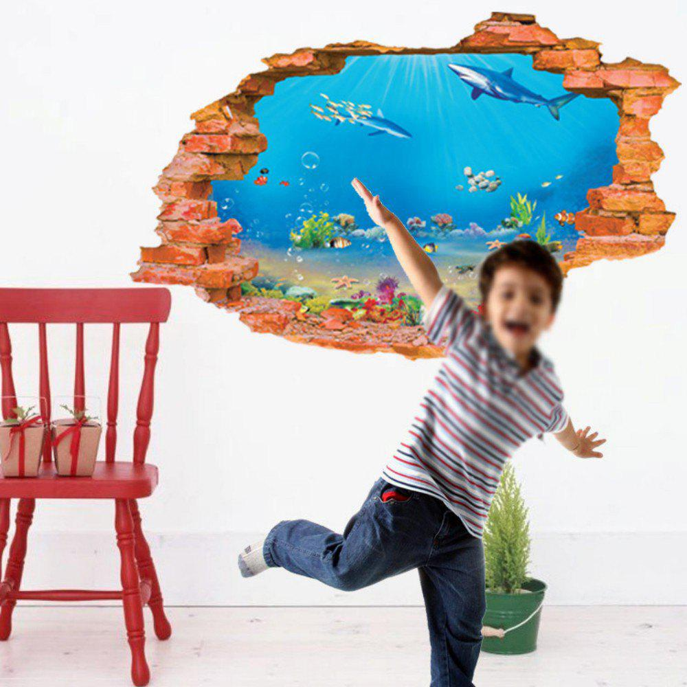 3D Sea Fishes Underwater World Wall Sticker Dolphin Wall Decals Home Decor For Kids Room 243367601