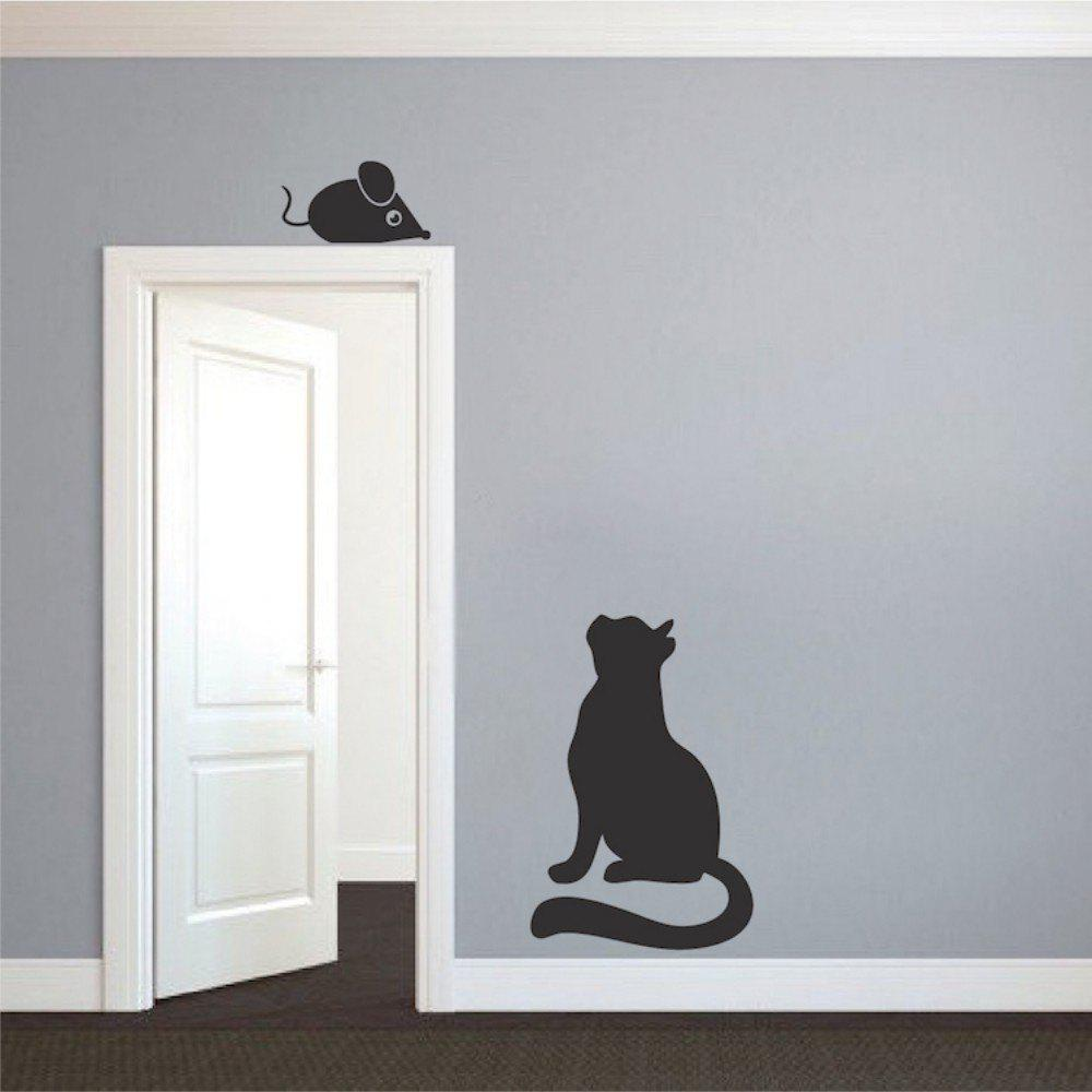 Cat Mouse Switch Stickers Vinyl Animals Wall Stickers for Kids Room Home Decor vinyl hands pattern home decor wall art stickers