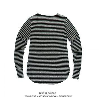 Men'S Striped Long-Sleeved T-Shirts - STRIPE STRIPE