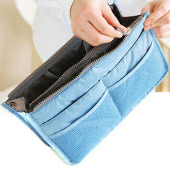 Thickening portable double zipper multifunctional bag storage finishing bag cosmetic bag storage bag cosmetic finishing - RANDOM COLOR RANDOM COLOR